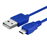 Insten® 10 Micro USB 2.0 A/B 2-in-1 Cable, Blue