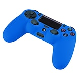 Insten® Silicone Skin Case For Sony PS4 Controller; Blue