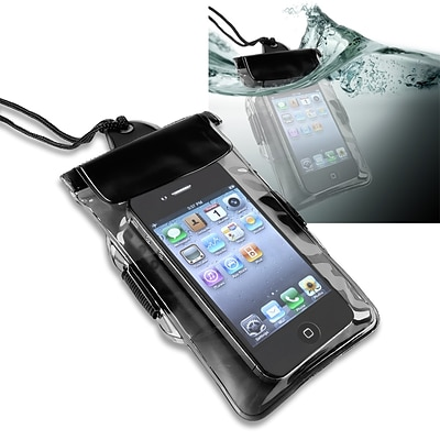 Insten® PVC Waterproof Bag Case For Cell Phone/PDA, Black