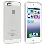 Insten® TPU Rubber Skin Case For Apple iPhone 5/5S, Clear