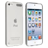 Insten® TPU Rubber iPod Case for Apple iPod Touch 5th Gen; Frost Clear, White