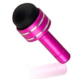 Insten® 3.5 mm Headset Dust Cap With Universal Mini Stylus For Touch Screen Devices, Pink (DOTHXXXXST29)