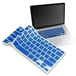 Insten® Keyboard Skin Shield For 13 Apple MacBook Pro White/Pro Series, Dark Blue