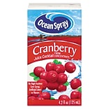 Ocean Spray Juice Box; 4.2 oz., Cranberry Flavor, 40/Pack
