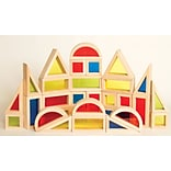 Guidecraft Rainbow Blocks, 30pcs Set