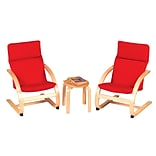 Guidecraft Kiddie Rocker Chair Set Red