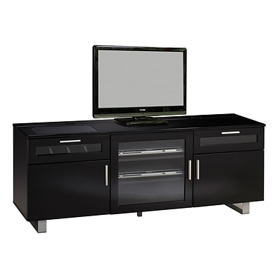 Coaster® Contemporary TV Console; High Gloss Black