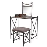 Linon Mission Hills Vanity Set With Bench; Gray