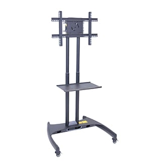 Luxor® Adjustable Height Flat Panel TV Stand and Mount Cart, Gray