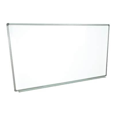 Luxor® 72 x 40 Wall Mounted Whiteboard, Aluminum Frame