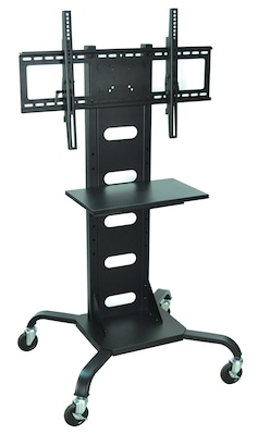 Luxor(r) H. Wilson's Universal Mobile Flat Panel Tv Stand And Mount Cart, Black