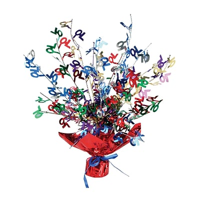 Beistle 15 70 Gleam N Burst Centerpiece; Multicolor, 3/Pack