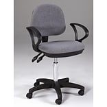Martin Universal Design Vesuvio Mid-Back Office Chair with Arms; Gray