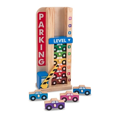 Melissa & Doug® Stack & Count Parking Garage Toy