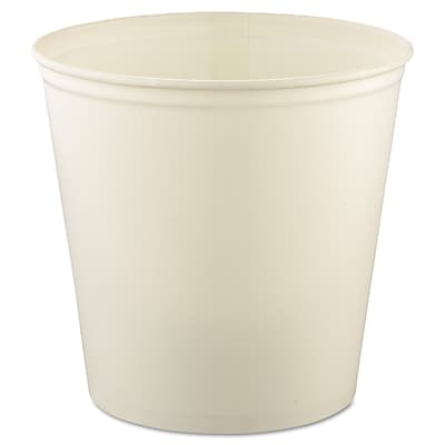 SOLO® 10T3 Waxed Double Wrapped Paper Bucket, 165 oz., White, 100/Pack