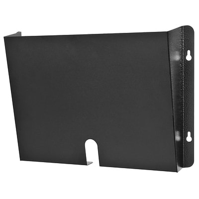 Buddy Products® HIPAA Single Pocket Wall File Holder, Black