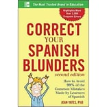 Correct Your Spanish Blunders Jean Yates Paperback