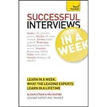 Successful Interviews in a Week Alison Straw, Mo Shapiro 1st Edition