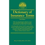 Dictionary of Insurance Terms Harvey W. Rubin Ph.D. 6th Edition