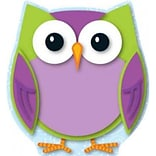 Colorful Owl Cut-Outs (2013, Wallchart)