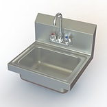 Aero Manufacturing NSF 17 x 15 Single Hand Sink w/ Faucet