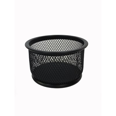 Buddy Products® Mesh Round Paper Clip Holder, Black