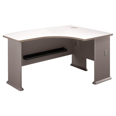Bush Business Cubix 60W x44D Right Hand L-Bow Desk, Pewter/White Spectrum