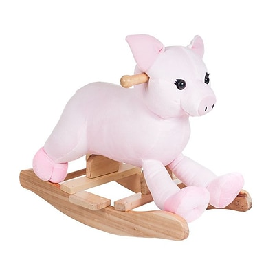 Happy Trails Plush Rocking Hamlet Pig Ride On Rocker