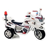 Lil Rider Supersize Ride-On Police Connection Bike Trike, White
