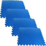 Stalwart™ 2 x 2 Ultimate Comfort Foam-rubber Flooring, Blue