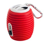 Sunbeam® 72-SB554 2 W Rechargeable Portable Speaker With Cable, Red