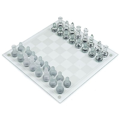 Trademark Games™ Deluxe Glass Chess Set