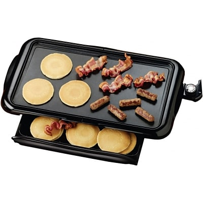 Brentwood 1400 W Adjustable Temperature Non-Stick Electric Griddle; Black