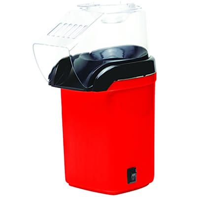 Brentwood 1200 W Hot Air Popcorn Maker; Red