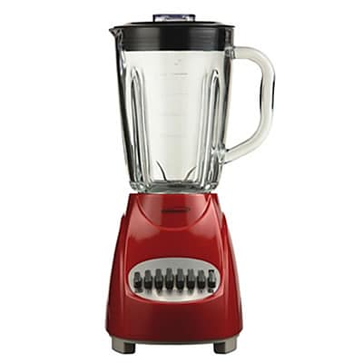 Brentwood® 12 Speed Blender With 1.25 Litre Glass Jar; Red