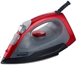 Brentwood 1000 W Non-Stick Steam/Dry/Spray Iron; Red