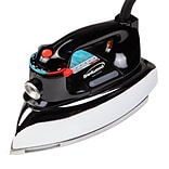 Brentwood 1100 W Classic Non-Stick Steam/Dry Iron; Black