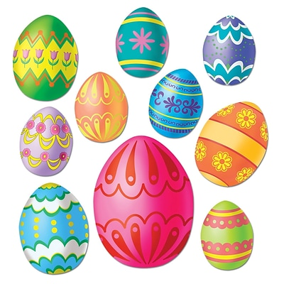 Beistle Easter Egg Cutouts; Assorted, 40/Pack