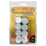 Hygloss™ Self Adhesive Magnetic Coins; 100/Pack