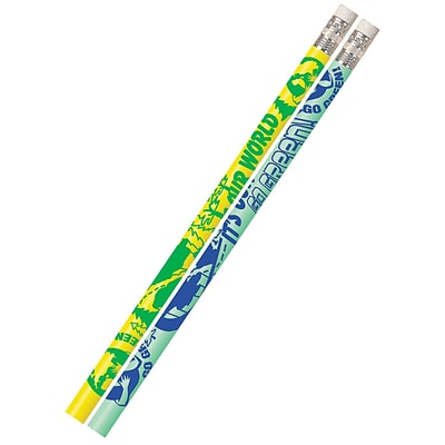 Musgrave Pencil Company Its Our World Go Green Motivational Fun Pencil; 12/Pack