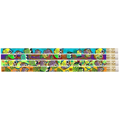 Musgrave Pencil Company Owl Corral Motivational Pencil; 12/Pack