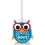Ashley 3 3/4 Rubber Colorful Owl Boys Hall Pass With Strap