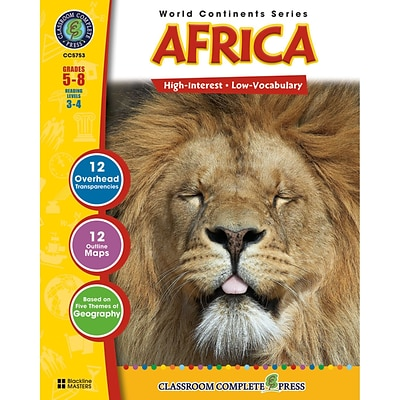 Classroom Complete Press World Continents Series Africa Resource Book; Grades 5 - 8