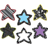 Creative Teaching Press® 6 Designer Cut-Outs, Black and White Stars, 36/Pack
