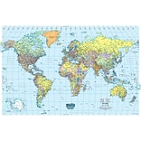 House Of Doolittle® Laminated World Map, 33 x 50