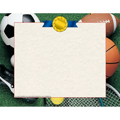 Hayes Border Paper Athletic Certificates, Multicolor, 50/Pack (H-VA642)