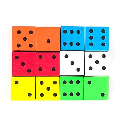 Koplow Games Assorted 16 mm Foam Spot Dice, 12/Pack