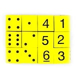 Koplow Games Yellow 16 mm Foam Spot and Number Dice, 12/Pack