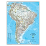 National Geographic Maps South America Wall Map, 24 x 30