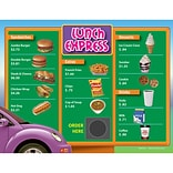Remedia Drive-Thru Menu Math: Beginning Money Skills Menu, Grade 3, 6/Pack